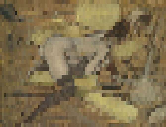 Джованни Болдини, «Наедине с зеркалом, 1880–1890-е. Доска, масло [ложное целомудрие и пиксель-арт, 2017].