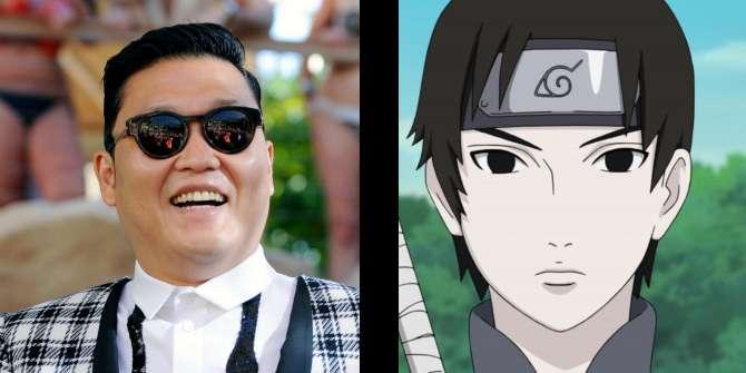 Слева — Psy, справа — Sai